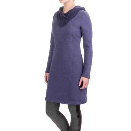 prAna Maud Dress - Organic Cotton, Long Sleeve (For Women) in Indigo - Closeouts