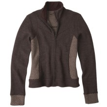 prAna Maura Jacket - Wool Blend, Full Zip (For Women) in Espresso - Closeouts
