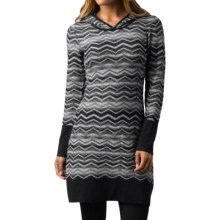 prAna Meryl Sweater Dress - Long Sleeve (For Women) in Black - Closeouts