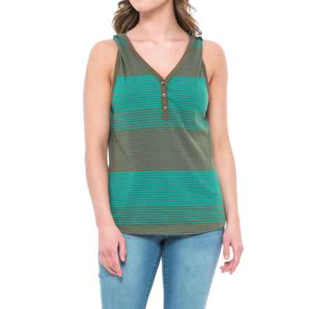 prAna Midsummer Henley Tank Top - Organic Cotton (For Women) in Cargo Green - Closeouts