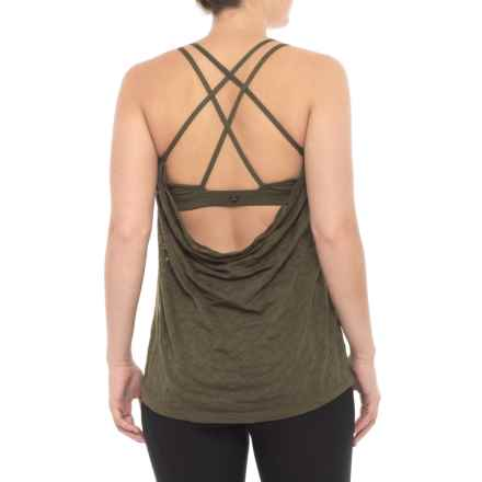 prAna Mika Strappy Burnout Tank Top - Semi-Sheer, Built-In Bralette (For Women) in Cargo Puzzled - Closeouts