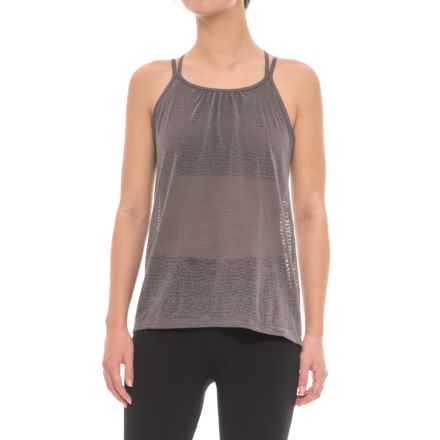 prAna Mika Strappy Burnout Tank Top - Semi-Sheer, Built-In Bralette (For Women) in Moonrock - Closeouts