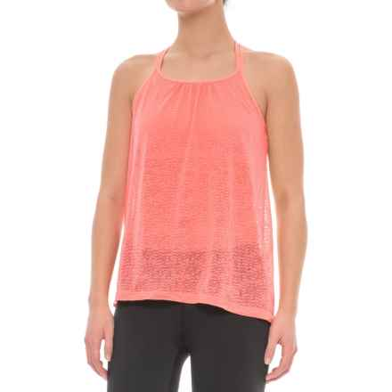 prAna Mika Strappy Burnout Tank Top - Semi-Sheer, Built-In Bralette (For Women) in Summer Peach - Closeouts