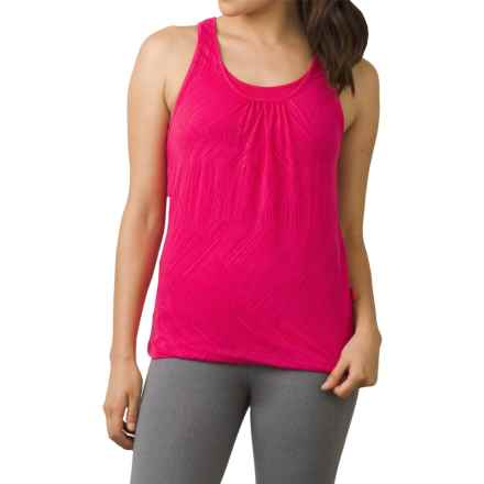 prAna Mika Tank Top - Scoop Neck, Racerback (For Women) in Cosmo Pink Copa - Closeouts