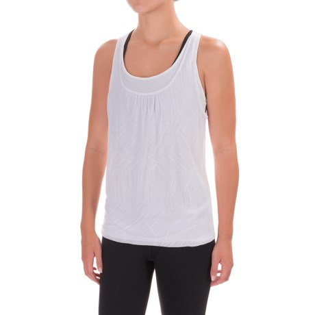 prAna Mika Tank Top - Scoop Neck, Racerback (For Women) in White Copa
