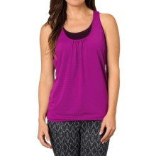 prAna Mikayla Tank Top - Burnout, Sleeveless (For Women) in Black Plum - Closeouts