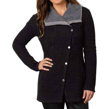 prAna Milana Jacket - Wool (For Women) in Coal - Closeouts