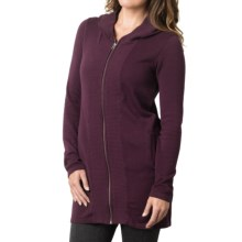 prAna Misha Duster Sweater - Organic Cotton, Long Sleeve (For Women) in Black Plum - Closeouts