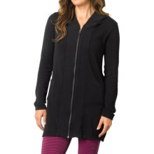 prAna Misha Duster Sweater - Organic Cotton, Long Sleeve (For Women) in Black - Closeouts