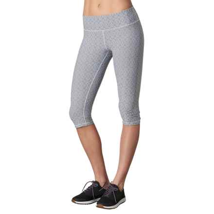 prAna Misty Capris - Low Rise (For Women) in Silver Jacquard - Closeouts
