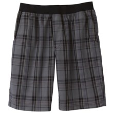 prAna Mojo Shorts (For Men) in Charcoal Plaid - Closeouts
