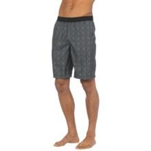prAna Mojo Shorts (For Men) in Grey Blue Plaid - Closeouts
