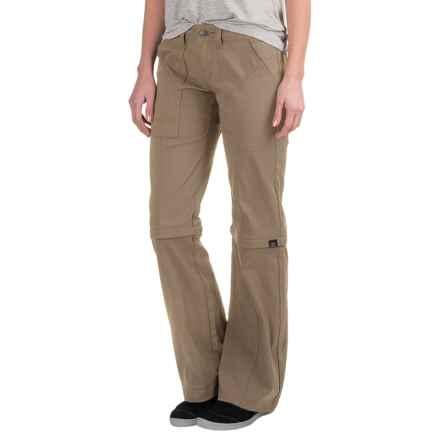 prAna Monarch Convertible Pants (For Women) in Dark Khaki - Closeouts