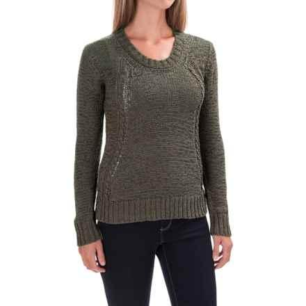 prAna Monique Sweater - Organic Cotton (For Women) in Cargo Green - Closeouts