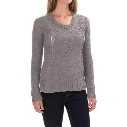 prAna Monique Sweater - Organic Cotton (For Women) in Cobblestone - Closeouts