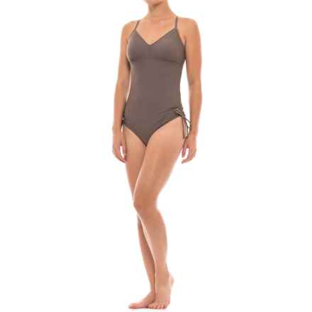 prAna Moorea One-Piece Swimsuit - Removable Cups (For Women) in Moonrock - Closeouts