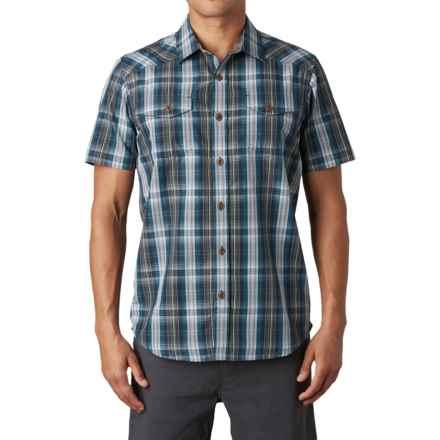 prAna Murdock Shirt - Button Up, Short Sleeve (For Men) in Blue Ash - Closeouts