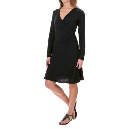 prAna Nadia Dress - Modal, Long Sleeve (For Women) in Black - Closeouts