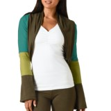 prAna Neah Shrug - Stretch Hemp-Organic Cotton, Long Sleeve (For Women)