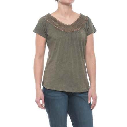 prAna Nelly T-Shirt - Organic Cotton, Short Sleeve (For Women) in Cargo Green - Closeouts