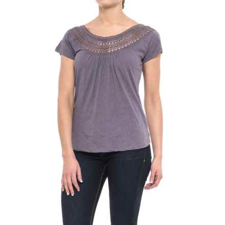 prAna Nelly T-Shirt - Organic Cotton, Short Sleeve (For Women) in Purple Mountain - Closeouts