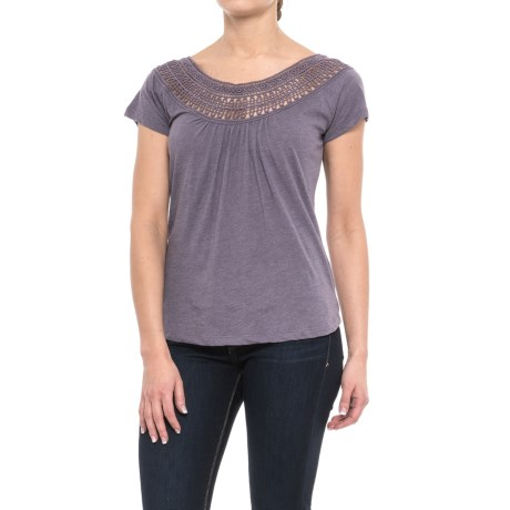 prAna Nelly T-Shirt - Organic Cotton, Short Sleeve (For Women) in Purple Mountain