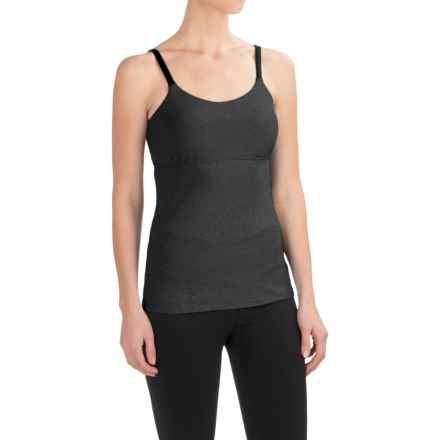 prAna Nixie Tank Top - Built-In Bra (For Women) in Charcoal Heather - Closeouts