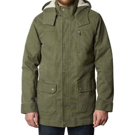 prAna Organic Cotton Canvas Parka (For Men) in Cargo Green - Closeouts