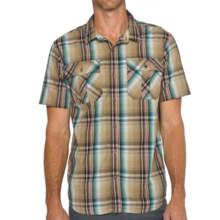 prAna Ostend Shirt - Organic Cotton, Short Sleeve (For Men) in Dark Khaki - Closeouts