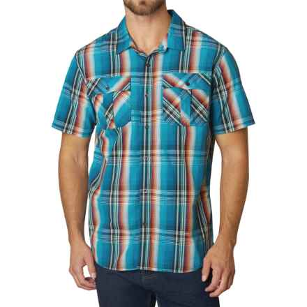 prAna Ostend Shirt - Organic Cotton, Short Sleeve (For Men) in Mosaic - Closeouts
