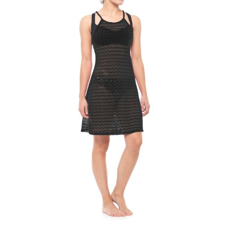 prAna Page Cover-Up Dress - Racerback, Sleeveless (For Women) in Solid Black