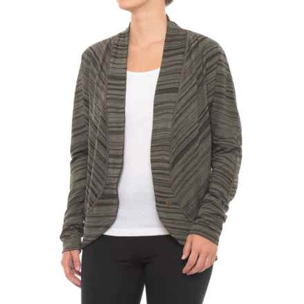 prAna Paradiso Cocoon Cardigan Sweater (For Women) in Dark Olive - Closeouts