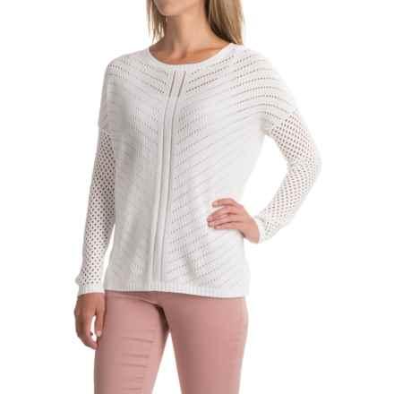 prAna Parker Sweater - Organic Cotton (For Women) in White - Closeouts
