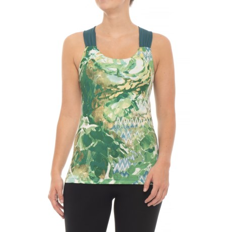prAna Phoebe Tank Top - Built-In Bra, Racerback (For Women) in Balsam Garden
