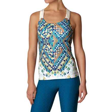 prAna Phoebe Tank Top - Built-In Bra, Racerback (For Women) in Cove Firefly - Closeouts