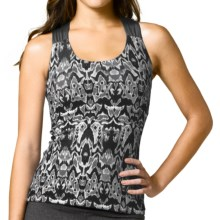 prAna Phoebe Tank Top - Recycled Materials (For Women) in Black Ikat - Closeouts