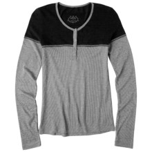 prAna Pippa Henley Shirt - Long Sleeve (For Women) in Black - Closeouts