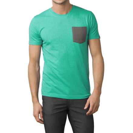 prAna Pocket T-Shirt - Organic-Cotton Blend, Short Sleeve (For Men) in Emerald Waters - Closeouts