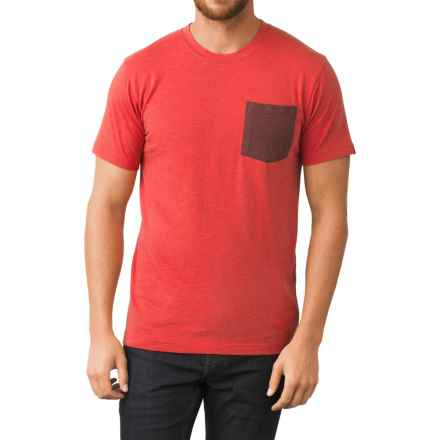 prAna Pocket T-Shirt - Organic-Cotton Blend, Short Sleeve (For Men) in Red Ribbon - Closeouts
