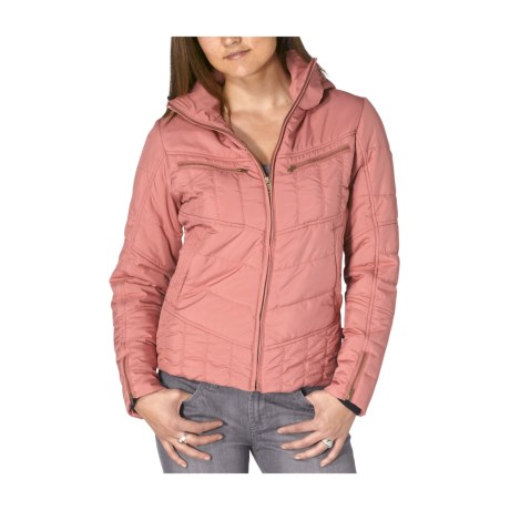 prAna Quilted Powder Parka Jacket - Insulated (For Women) in Blush