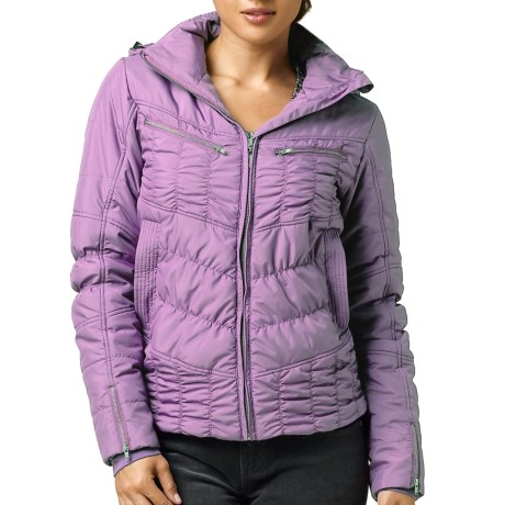 prAna Quilted Powder Parka Jacket - Insulated (For Women) in Vintage Grape