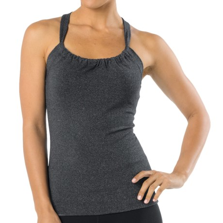 prAna Quinn Chakara Tank Top (For Women) in Charcoal Heather