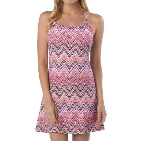 prAna Quinn Dress - Built-In Shelf Bra (For Women) in Boysenberry Tempo