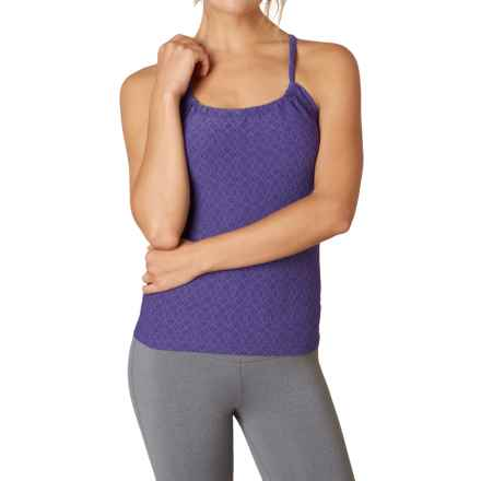 prAna Quinn Jacquard Tank Top - Built-In Shelf Bra (For Women) in Violet Jacquard - Closeouts