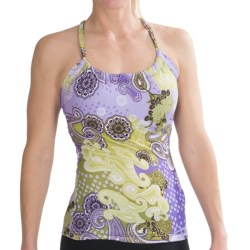 prAna Quinn Top - Sleeveless (For Women) in Dark Eggplant Garden