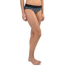 prAna Ramba Swimsuit Bottoms - UPF 30+ (For Women) in Black Patchwork - Closeouts