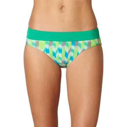prAna Ramba Swimsuit Bottoms - UPF 30+ (For Women) in Cool Green Ikat - Closeouts