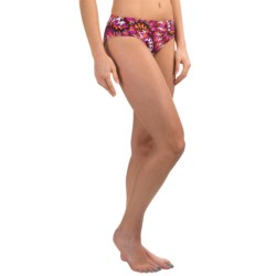 prAna Ramba Swimsuit Bottoms - UPF 30+ (For Women) in Neon Orange Tie Dye