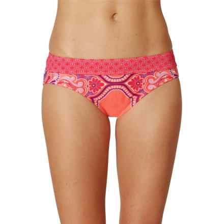prAna Ramba Swimsuit Bottoms - UPF 30+ (For Women) in Neon Orange Jasmine - Closeouts