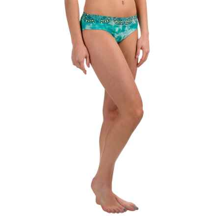 prAna Ramba Swimsuit Bottoms - UPF 30+ (For Women) in Turquoise Tie Dye - Closeouts